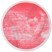 Red Wood Round Beach Towel