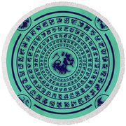 Runes Round Beach Towel