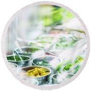 Salad Bar Buffet Fresh Mixed Vegetables Display Round Beach Towel