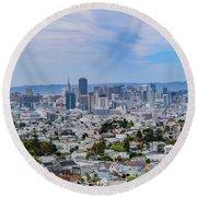 San Francisco Skyline  Round Beach Towel