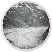 Sawyer Glacier In Tracy Arm Alaska Fjords Near Ketchikan Alaska Round Beach Towel