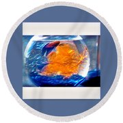 Siamese Fighting Fish Round Beach Towel