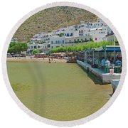 Sifnos, Greece Round Beach Towel