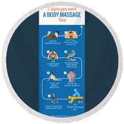 7 Signs You Need A Body Massage Now Round Beach Towel