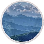 Springtime In The Blue Ridge Mountains Round Beach Towel
