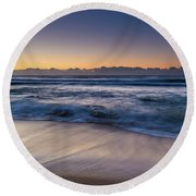 Sunrise By The Sea Round Beach Towel