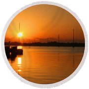 Sunrise / Sunset / Indian River Round Beach Towel