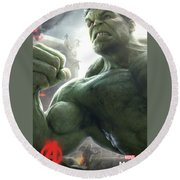 The Avengers Age Of Ultron 2015 Round Beach Towel