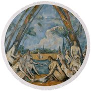 The Large Bathers Round Beach Towel