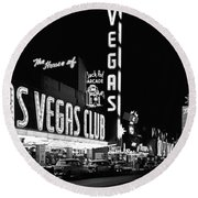 The Las Vegas Strip Round Beach Towel