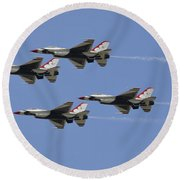 The U.s. Air Force Thunderbirds Fly Round Beach Towel by Stocktrek Images