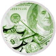Time Is Money 16 Round Beach Towel
