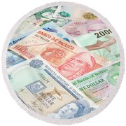 Travel Money - World Economy Round Beach Towel