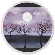 Tree Love Round Beach Towel