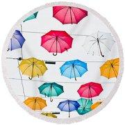 Umbrellas Round Beach Towel