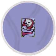 Hugs Round Beach Towel