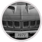 '71 Cuda Round Beach Towel
