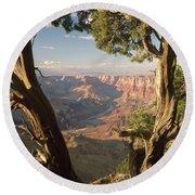 713261 V Desert View Grand Canyon Round Beach Towel