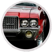 72 Olds Cutlass Round Beach Towel