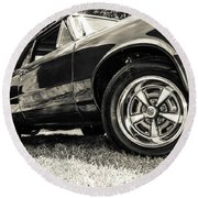 Classic Cars Round Beach Towel