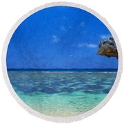 Nature Landscape Oil Painting For Sale Round Beach Towel