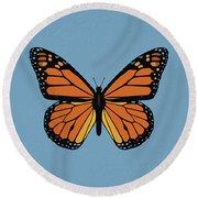 74- Monarch Butterfly Round Beach Towel