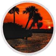 75 Island Sunset Round Beach Towel