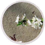 Spring Flowers Round Beach Towel