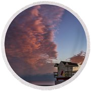 7826- Miami Beach Sunrise Round Beach Towel