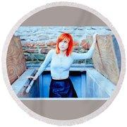 79361 Hayley Williams Paramore Women Singer Redhead Round Beach Towel