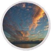 7972- Miami Beach Sunrise Round Beach Towel