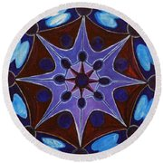 7th Mandala - Crown Chakra Round Beach Towel