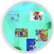 8-10-2015abcdefghij Round Beach Towel