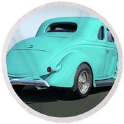 1936 Ford Coupe Round Beach Towel