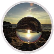 8-25-16--5717 Don't Drop The Crystal Ball, Crystal Ball Photography Round Beach Towel