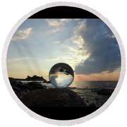 8-26-16--5878 Don't Drop The Crystal Ball, Crystal Ball Photography Round Beach Towel