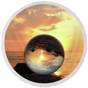 8-26-16--5927 Don't Drop The Crystal Ball, Crystal Ball Photography Round Beach Towel