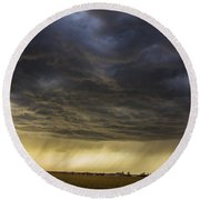 2nd Storm Chase 2015 Round Beach Towel