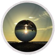 8-30-16--6270 Don't Drop The Crystal Ball, Crystal Ball Photography Round Beach Towel