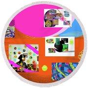 8-7-2015babcdefghijklmnopqrtuvwxyza Round Beach Towel
