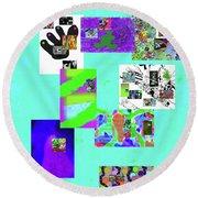 8-8-2015babcdefg Round Beach Towel