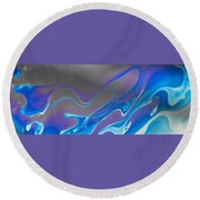Abstract Colours Round Beach Towel