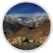 Alabama Hills, Ca Round Beach Towel