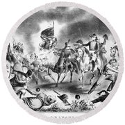Battle Of New Orleans Round Beach Towel