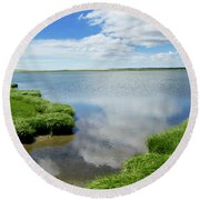 Cape Cod Salt Pond Round Beach Towel