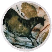 Cave Art: Lascaux Round Beach Towel