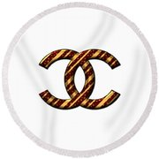 Chanel Style Png Round Beach Towel