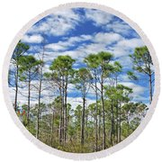 8- Cypress Sky Round Beach Towel