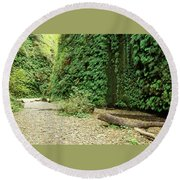 Fern Canyon Round Beach Towel