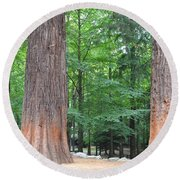 Forestry Round Beach Towel